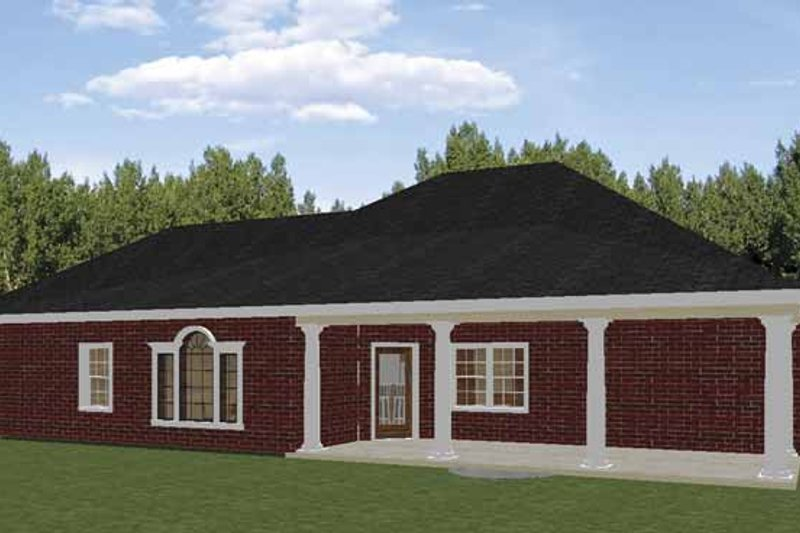 Traditional Exterior - Rear Elevation Plan #44-213 - Houseplans.com