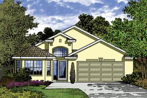 Mediterranean Exterior - Front Elevation Plan #417-824