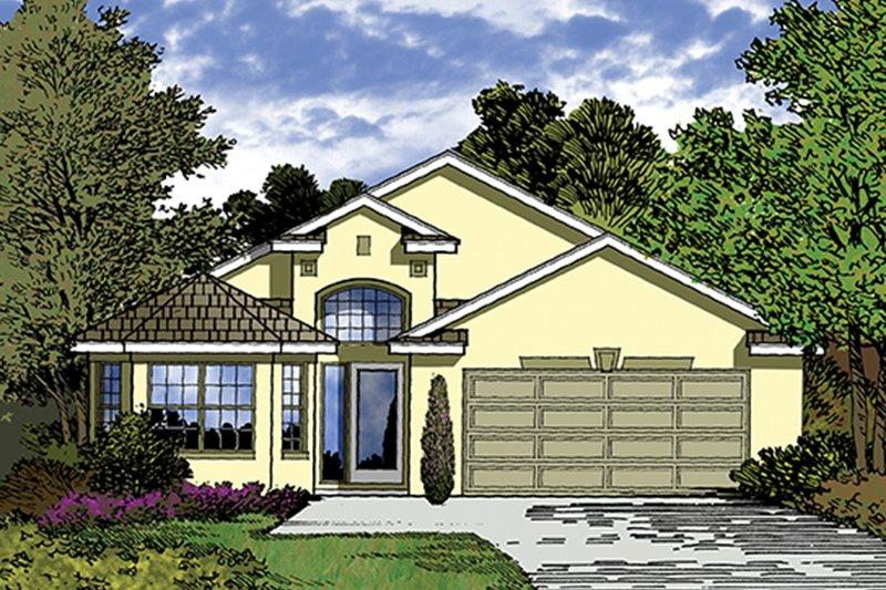 Dream House Plan - Mediterranean Exterior - Front Elevation Plan #417-824