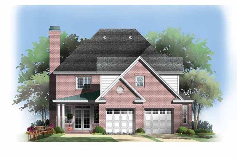 Colonial Exterior - Rear Elevation Plan #929-851 - Houseplans.com