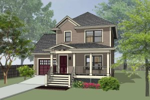Cottage Exterior - Front Elevation Plan #79-123
