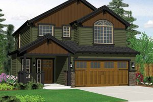 Architectural House Design - Craftsman Exterior - Front Elevation Plan #943-14