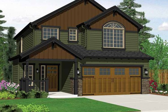 Craftsman Exterior - Front Elevation Plan #943-14
