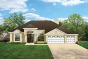 Mediterranean Style House Plan - 4 Beds 3 Baths 2448 Sq/Ft Plan #1058-46 Exterior - Front Elevation