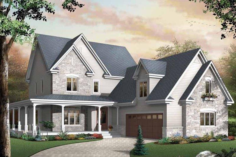 Victorian Exterior - Front Elevation Plan #23-2351 - Houseplans.com