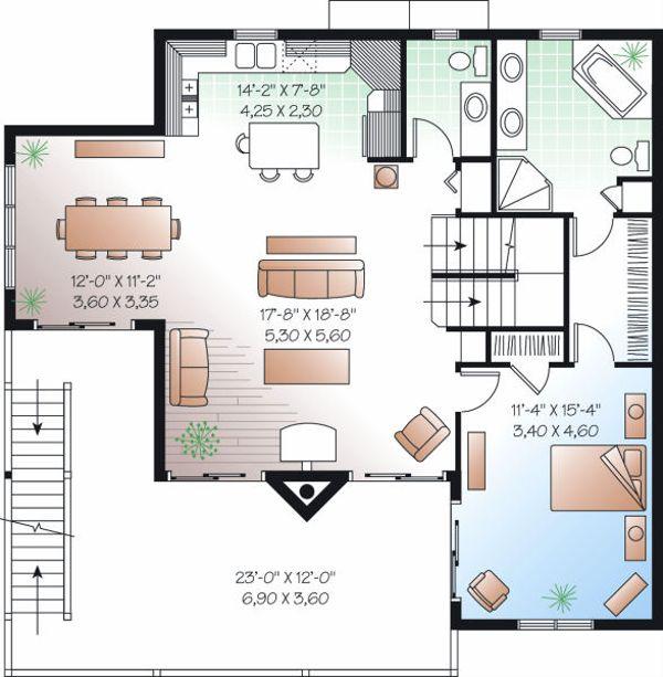 Traditional Floor Plan - Upper Floor Plan Plan #23-869
