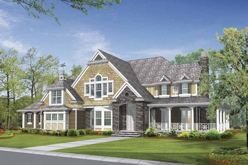 Craftsman Exterior - Front Elevation Plan #132-509