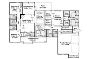 Traditional Style House Plan - 3 Beds 3.5 Baths 2218 Sq/Ft Plan #21-220 Floor Plan - Main Floor Plan