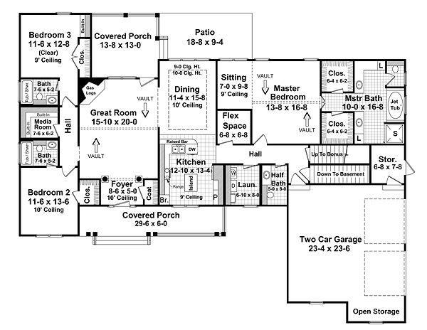 House Plan Design - Traditional Floor Plan - Main Floor Plan #21-220
