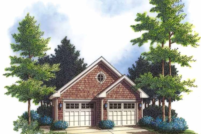 Country Exterior - Front Elevation Plan #48-831