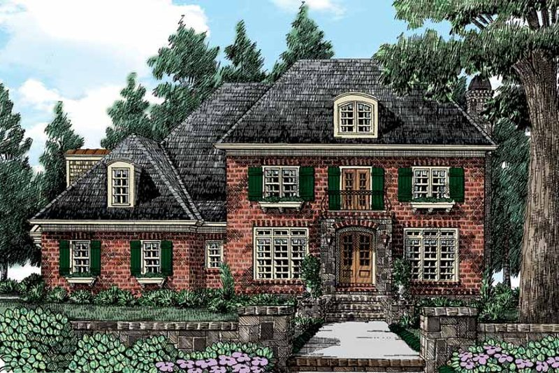 House Plan Design - European Exterior - Front Elevation Plan #927-417