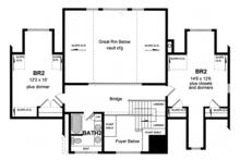 Colonial Floor Plan - Upper Floor Plan Plan #316-287