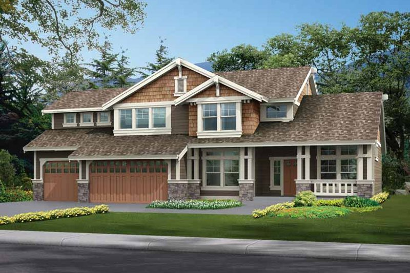 Craftsman Exterior - Front Elevation Plan #132-300