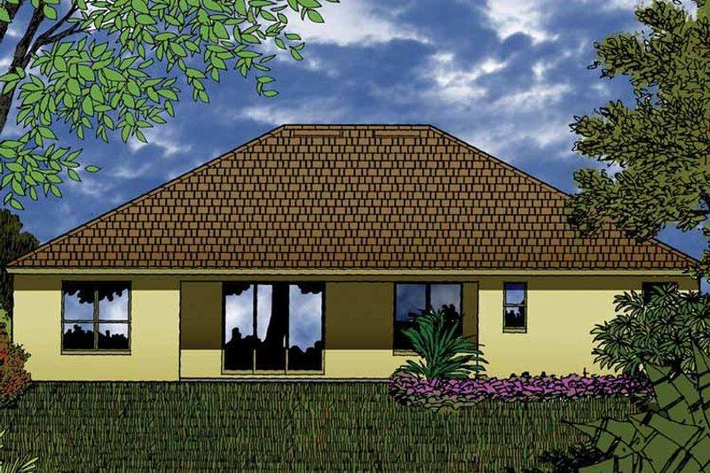 Contemporary Exterior - Rear Elevation Plan #1015-46 - Houseplans.com