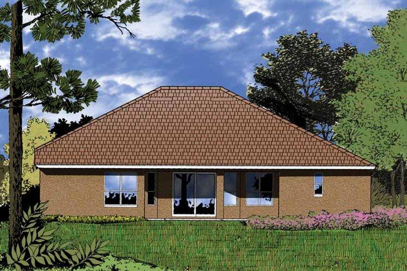 European Exterior - Rear Elevation Plan #1015-3 - Houseplans.com
