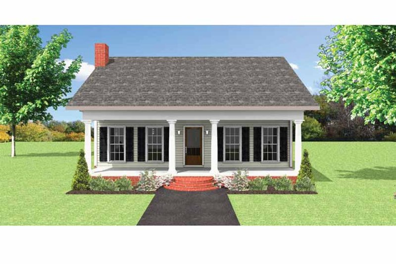 Country Exterior - Front Elevation Plan #44-220 - Houseplans.com