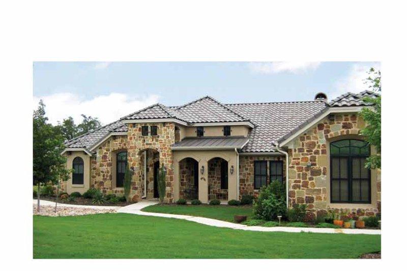 Dream House Plan - Mediterranean Exterior - Front Elevation Plan #472-307