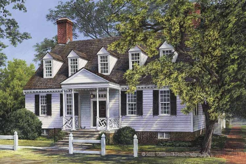 Colonial Exterior - Front Elevation Plan #137-355 - Houseplans.com