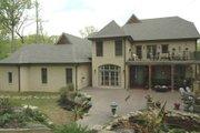 European Style House Plan - 4 Beds 4.5 Baths 4971 Sq/Ft Plan #424-31 Exterior - Rear Elevation