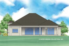 Dream House Plan - Contemporary Exterior - Rear Elevation Plan #930-477