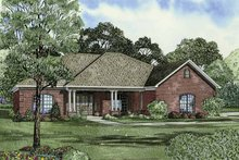 Traditional Exterior - Front Elevation Plan #17-2831