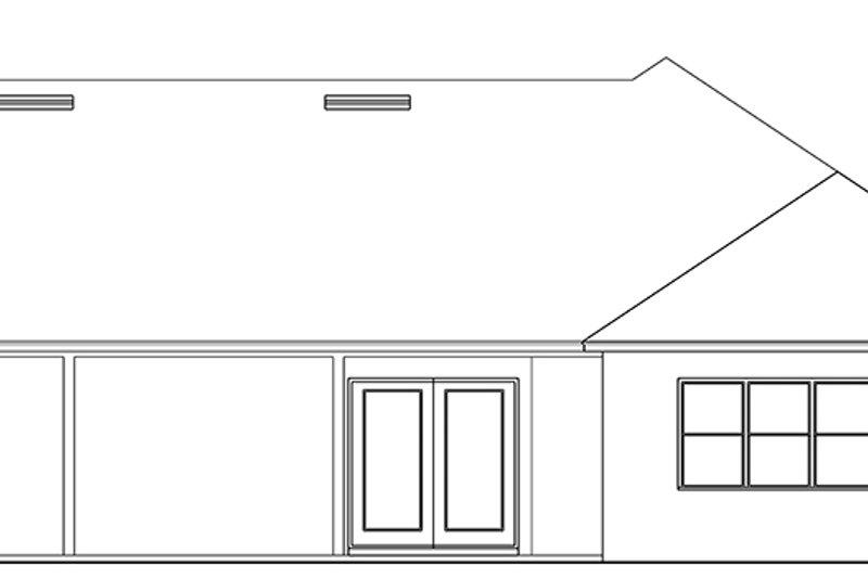 Ranch Exterior - Rear Elevation Plan #1058-144 - Houseplans.com