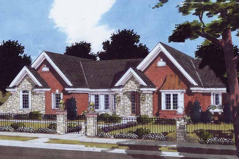 Traditional Exterior - Front Elevation Plan #46-803 - Houseplans.com
