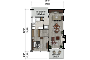 Contemporary Style House Plan - 3 Beds 1 Baths 1563 Sq/Ft Plan #25-4932