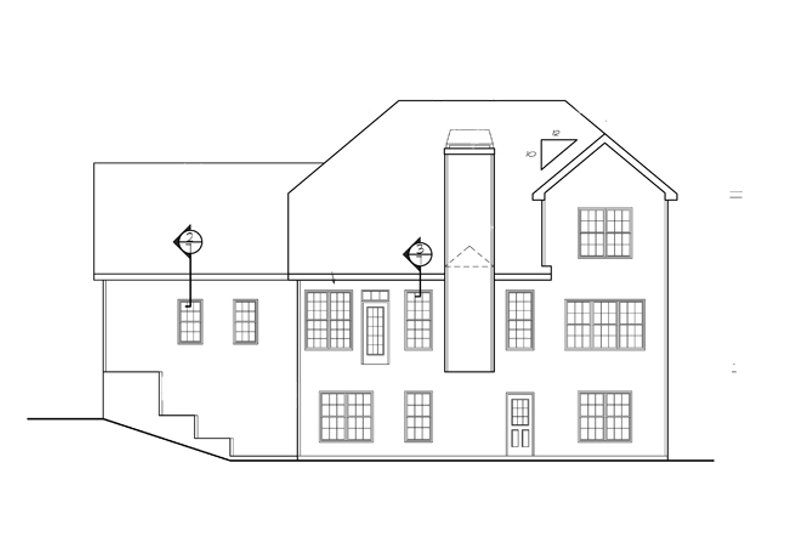 Colonial Exterior - Rear Elevation Plan #927-753 - Houseplans.com