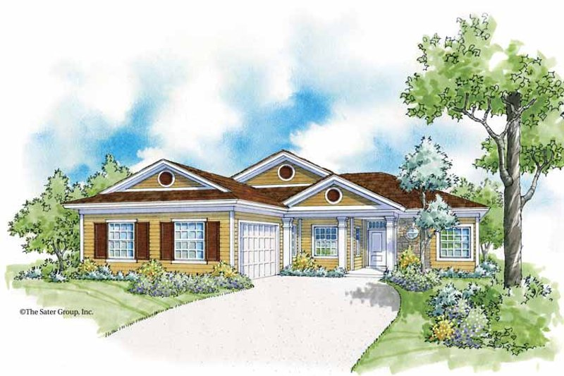 Country Exterior - Front Elevation Plan #930-365