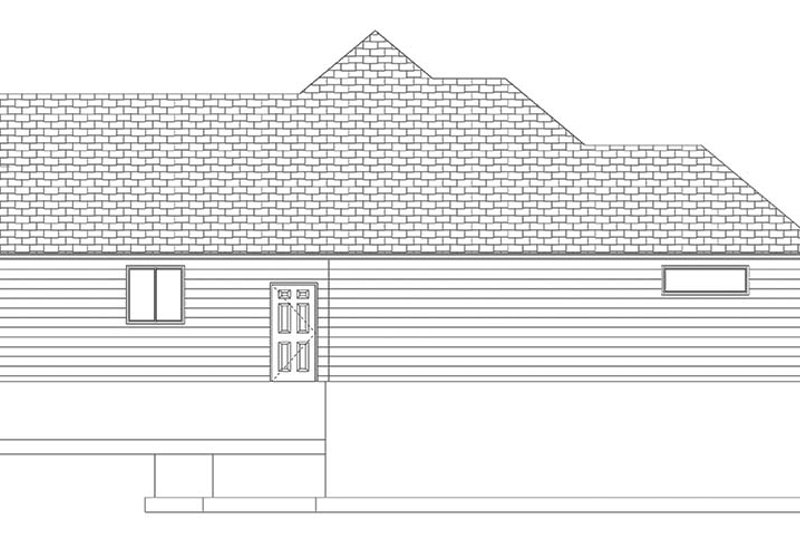 Ranch Exterior - Other Elevation Plan #1060-10 - Houseplans.com