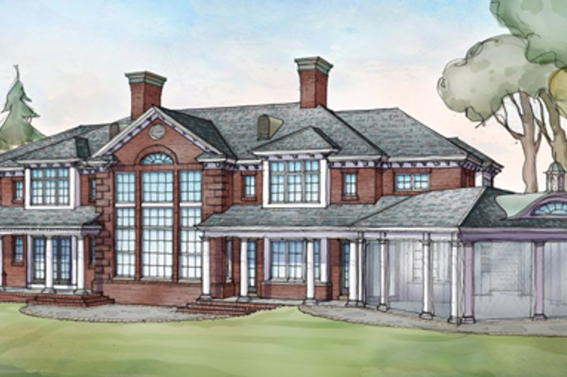 Classical Exterior - Rear Elevation Plan #928-256 - Houseplans.com