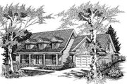 Country Style House Plan - 5 Beds 3 Baths 2787 Sq/Ft Plan #329-118 Exterior - Front Elevation