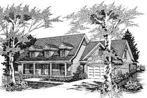 Country Exterior - Front Elevation Plan #329-118