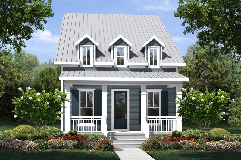 Cottage Exterior - Front Elevation Plan #430-115