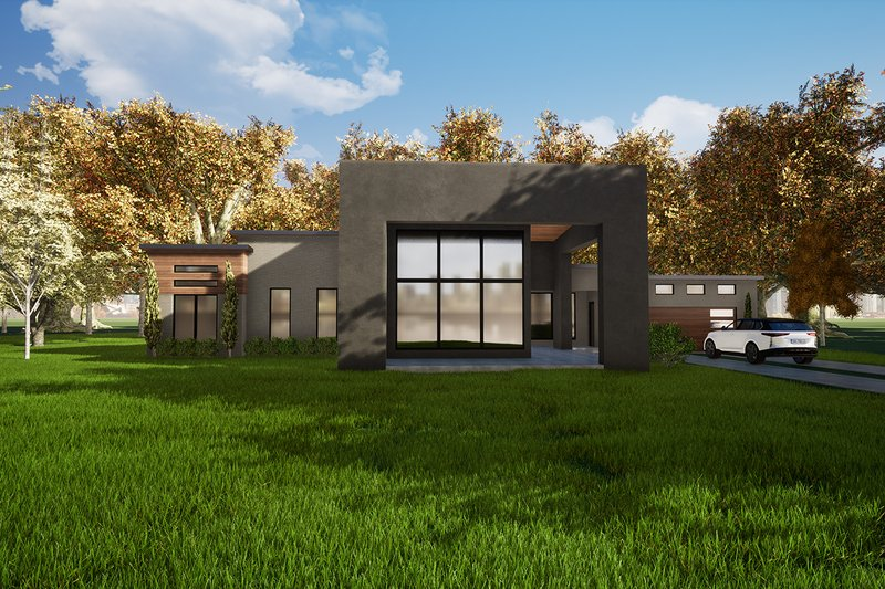 Home Plan - Contemporary Exterior - Front Elevation Plan #17-3385