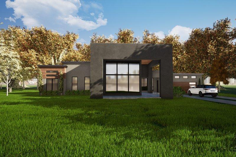 House Plan Design - Contemporary Exterior - Front Elevation Plan #17-3385