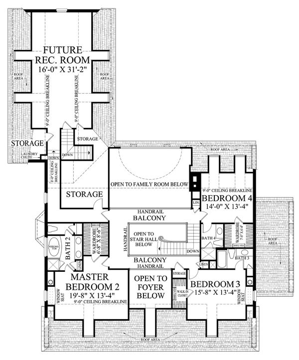 Dream House Plan - Country Floor Plan - Upper Floor Plan #137-233