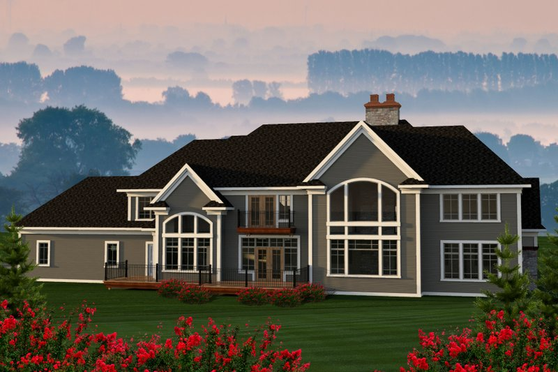 Traditional Exterior - Rear Elevation Plan #70-1206 - Houseplans.com