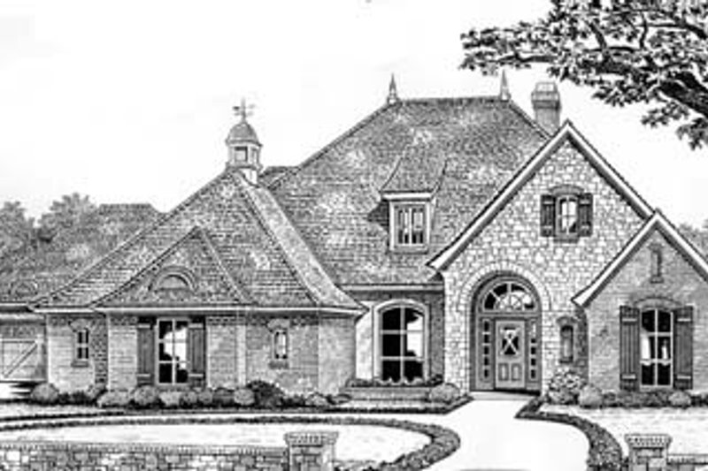 Traditional Style House Plan - 4 Beds 3 Baths 2435 Sq/Ft Plan #310-531 Exterior - Front Elevation