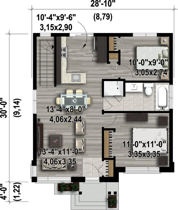 Contemporary Floor Plan - Main Floor Plan #25-4407