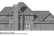 Southern Style House Plan - 4 Beds 3.5 Baths 2637 Sq/Ft Plan #70-422 Exterior - Rear Elevation