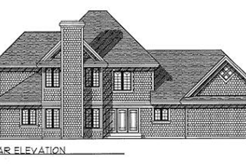 Southern Exterior - Rear Elevation Plan #70-422 - Houseplans.com