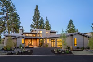 Dream House Plan - Contemporary Exterior - Front Elevation Plan #892-10