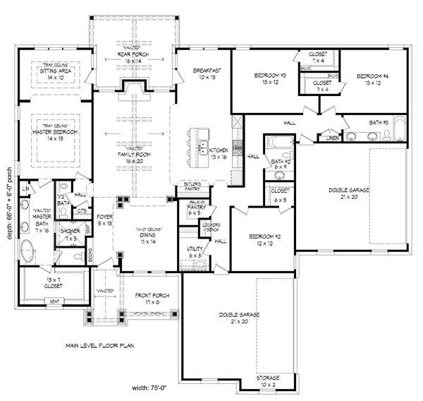 House Plan Design - Craftsman Floor Plan - Main Floor Plan #932-282
