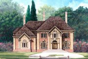 European Style House Plan - 5 Beds 4 Baths 3497 Sq/Ft Plan #119-250 Exterior - Front Elevation