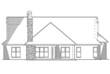 European Exterior - Rear Elevation Plan #17-2574