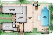 Mediterranean Style House Plan - 2 Beds 2.5 Baths 3996 Sq/Ft Plan #27-450 Floor Plan - Lower Floor Plan