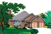 Traditional Style House Plan - 3 Beds 2 Baths 1405 Sq/Ft Plan #310-139 Exterior - Front Elevation
