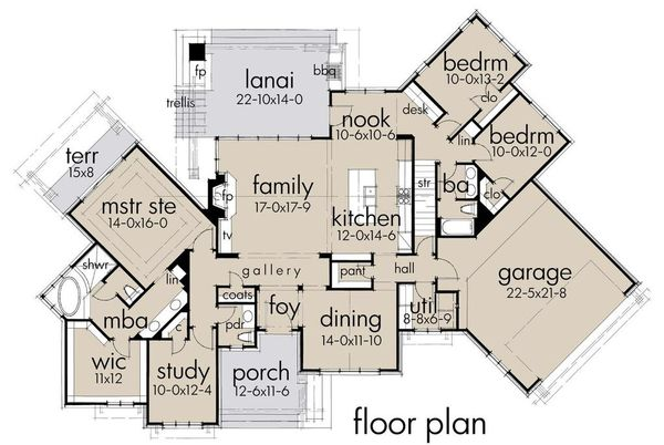 Ranch Floor Plan - Main Floor Plan Plan #120-194